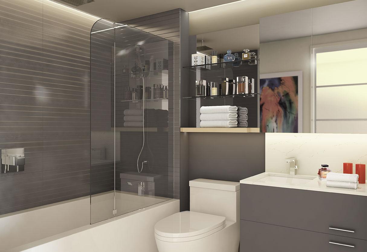 Salle de bain de nos condos